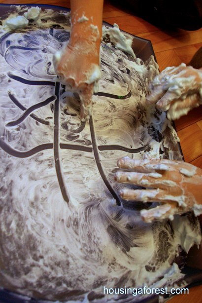Cleaning With Shaving Cream