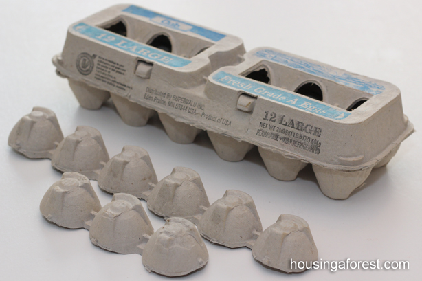 Egg Carton Cross ~ Simple recycled craft for kids perfect for Easter