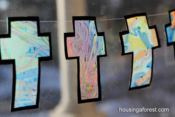 Melted Crayon Cross ~ Housing A Forest