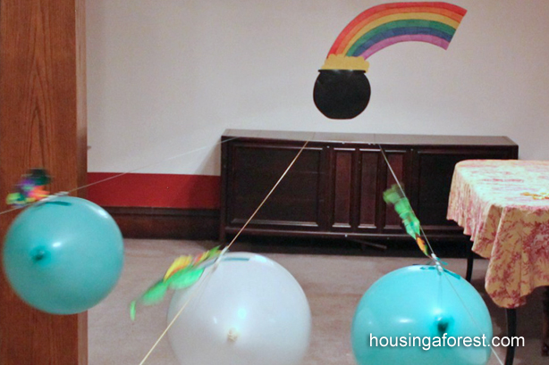 Balloon Rockets ~ Racing Leprechauns is a fun St. Patricks Day Activity