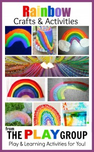 Rainbow crafts and activities from the PLAY group