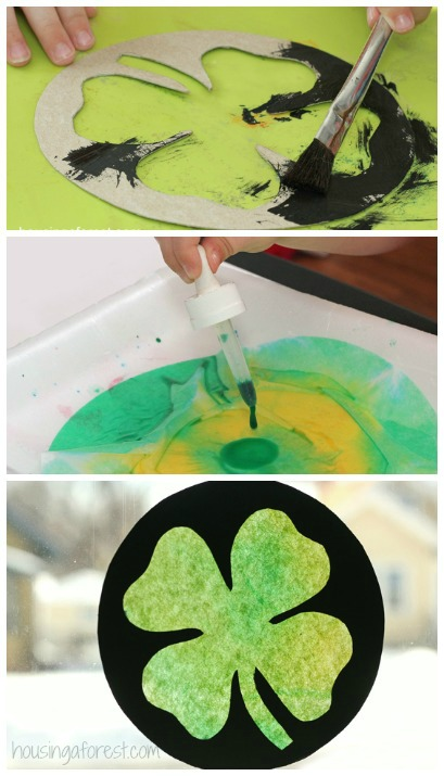 Stained Glass Shamrock ~ Easy St Patrick's Day Craft