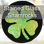 Stained Glass Shamrock Craft