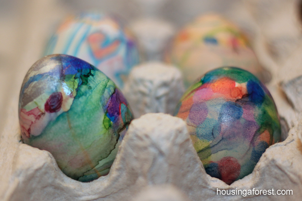 Sharpie Tie Dye Easter Eggs Housing A Forest