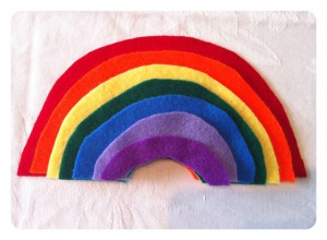 DIY Felt Rainbow Size Sort
