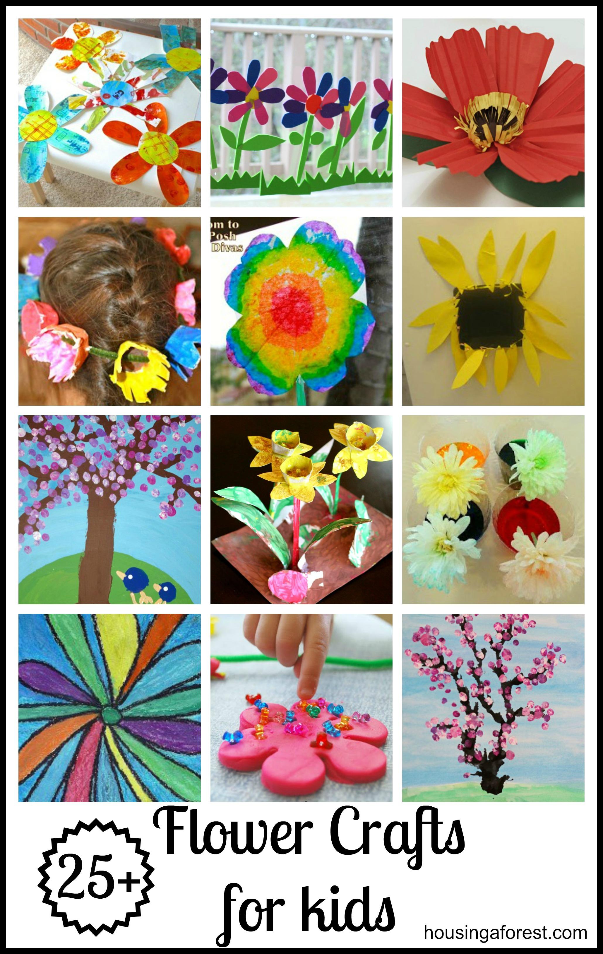 25+ Flower Crafts for kids