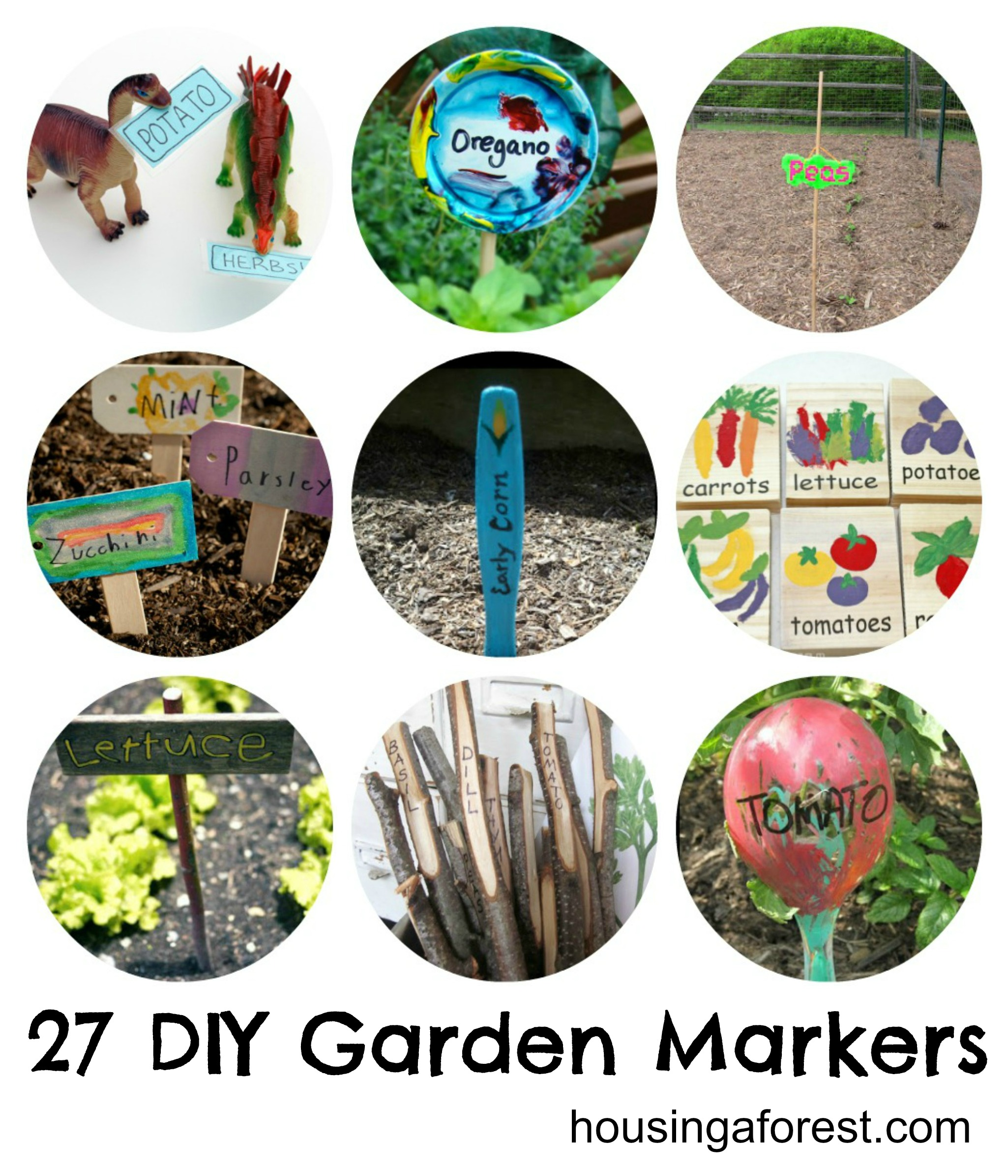 27 DIY Garden Markers Housing a Forest