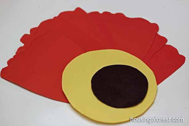 Poppies housing a forest giant paper poppy flower remembrance day craft mightylinksfo