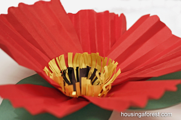 Giant Paper Poppy Craft Flower