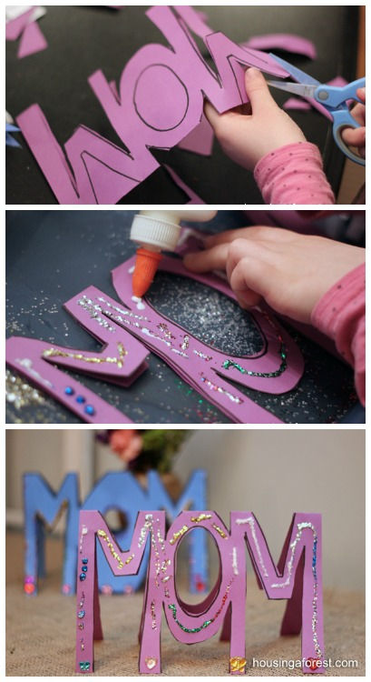 Mothers Day Craft for Kids to Make ~ Mothers Day Card