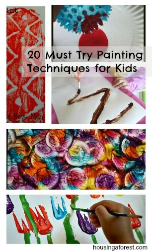 20 Must Try Painting Techniques for Kids
