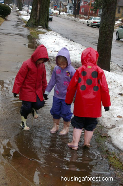 Puddle Jumping ~ Learning about weather