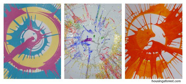 Spin Art ~ lot of different paint mediums to try spinning!