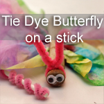 Tie Dye Butterfly on a Stick