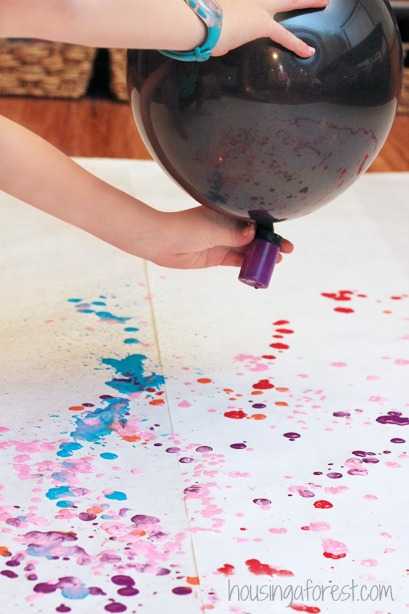 Balloon Drip Painting ~ Process Art
