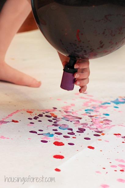 Balloon Drip Painting ~ Process Art