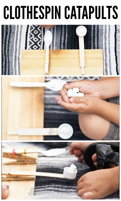 Invitation to PLAY: Homemade Clothespin Catapults