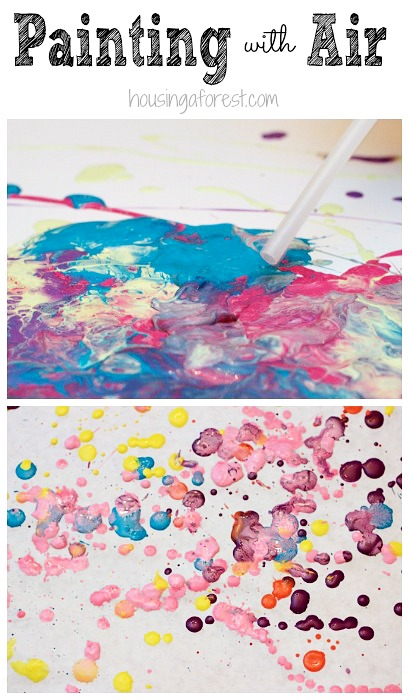 Painting with Air ~ Process Art
