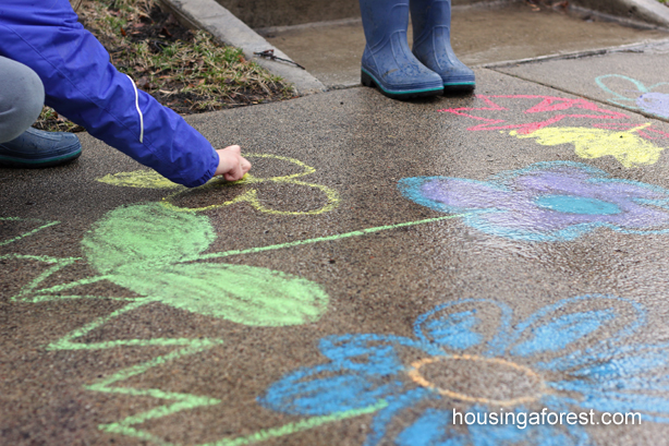 Playing with Chalk in the Rain
