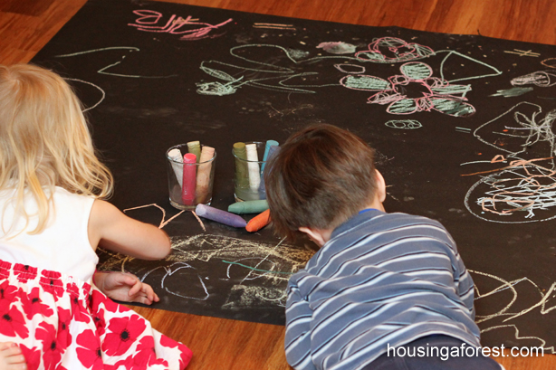 Wet Chalk Drawings