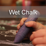 Wet Chalk Drawings