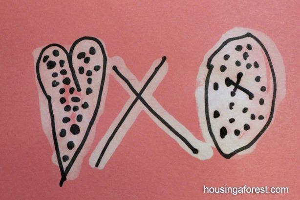 Bleach and Sharpie Valentines