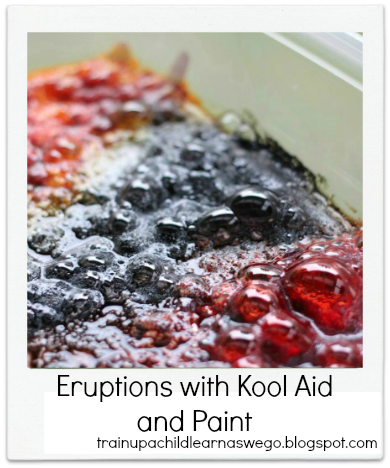 Eruptions with Kool Aid and Paint