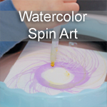 Watercolor Spin Art