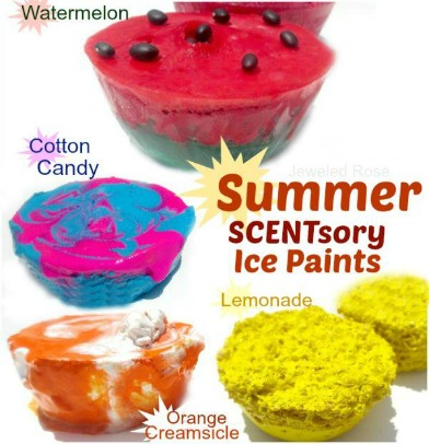 Summer SCENTsory Ice Paints