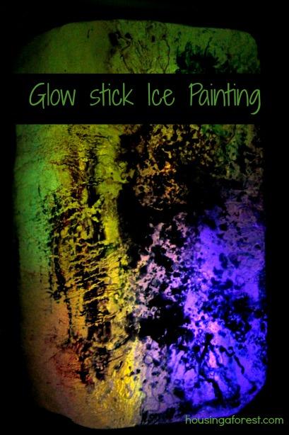 how to make glow stick art