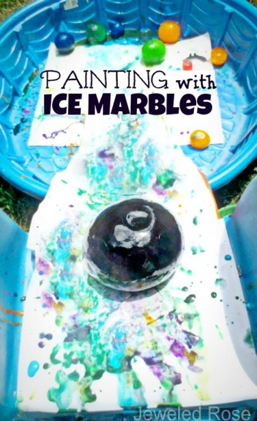 Ice Marble Painting