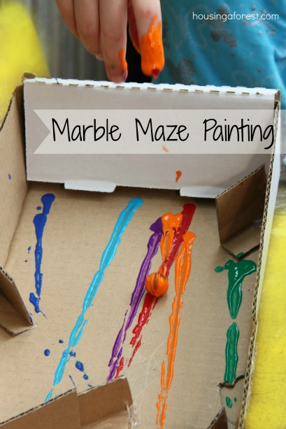 Marble Maze Painting