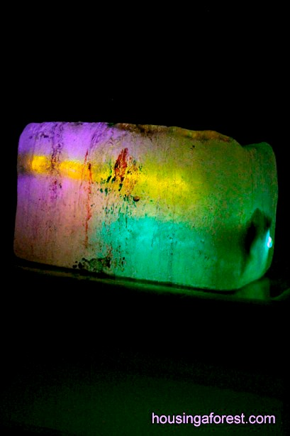 Glow Stick  Ice Painting ~ explore paint and ice at night