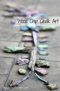 Wood Chip Chalk Art ~ Housing A Forest