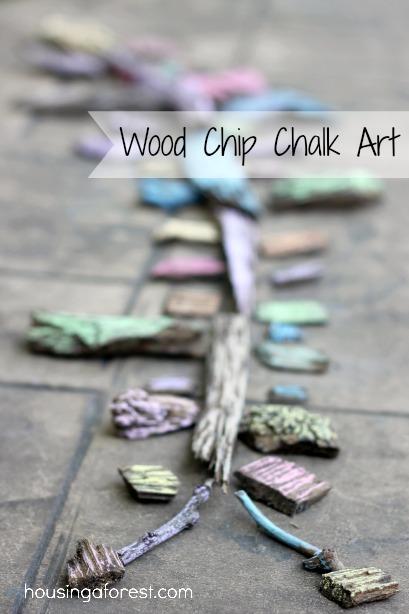 Wood Chip Chalk Art ~ Housing A Forest