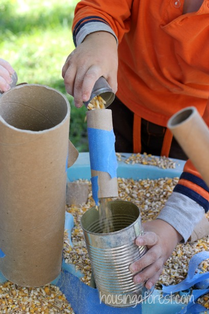 Chicken Food Sensory Bin ~ Sensory Activity for Toddlers