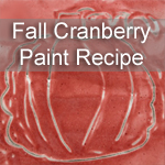 Homemade Cranberry Fall Paint Recipe