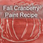 Homemade Cranberry Fall Paint Recipe