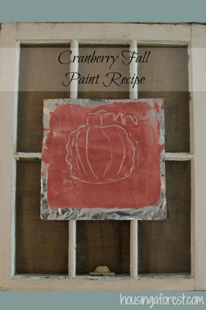 Cranberry Fall Paint Recipe ~ paint that is perfect for fall and it smells great