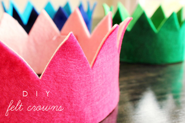 simple DIY Crown ~ Felt Crown tutorial