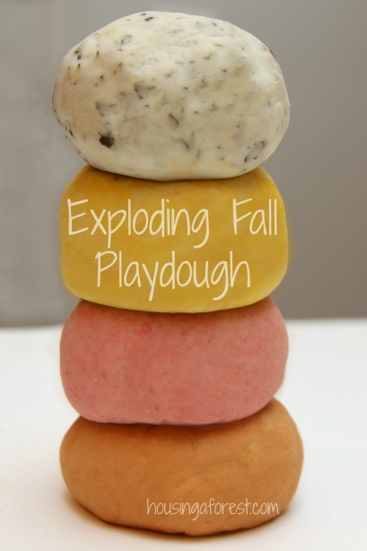 Erupting Fall Playdough Reicpe ~ Fall sensory Play