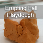 Erupting Fall Playdough