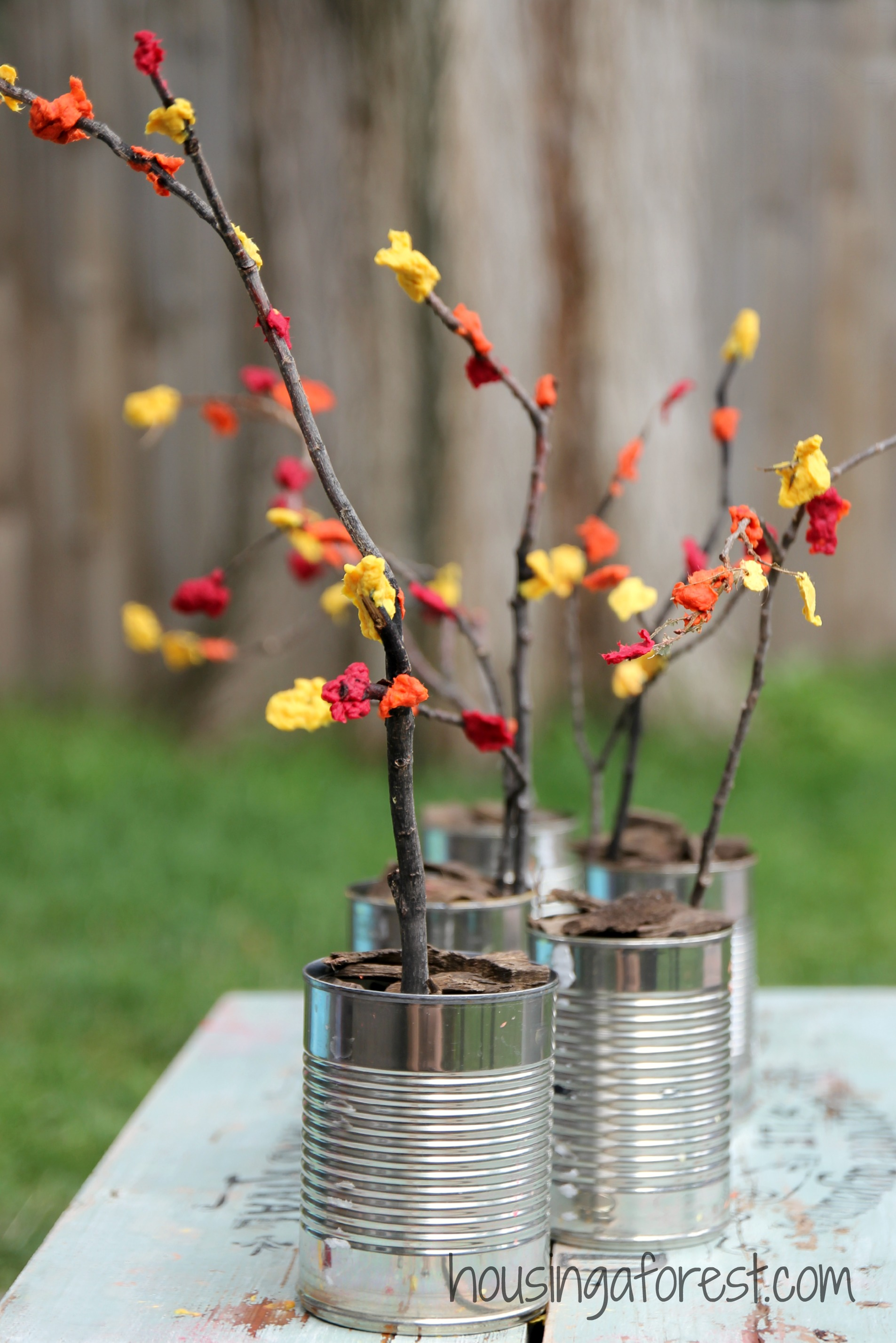 Tree branches for crafts - Fall Centerpiece Craft For Kids Simple Craft And Sensory Experience Rolled Into One This