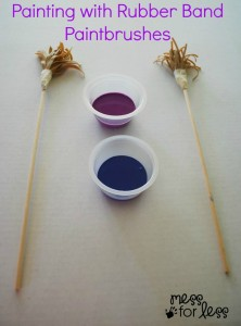 Painting with Rubberband Paintbrushes