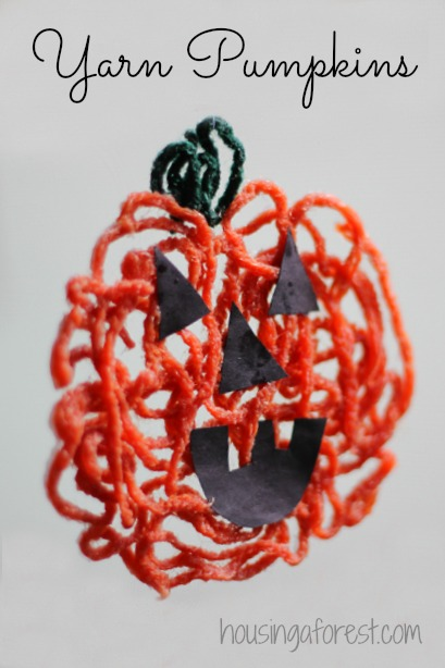 Yarn Pumpkins ~ Simple Halloween Craft