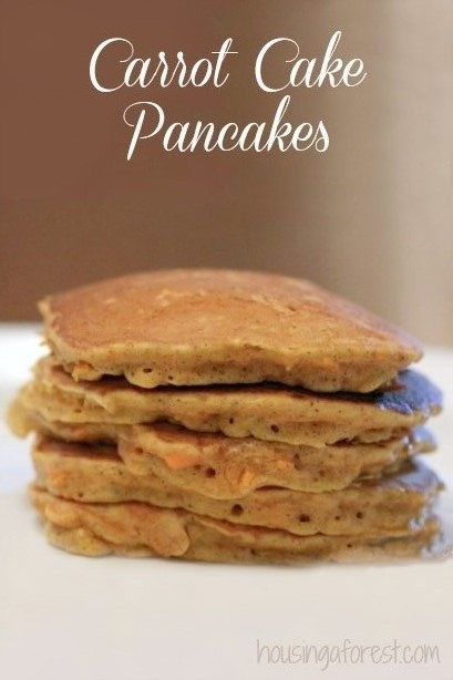 carrot cake pancakes ~ yummy fall recipe