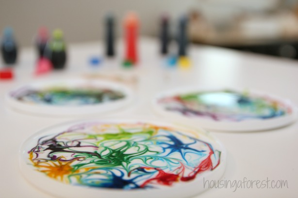 Painting On Wet Glue ~ beautiful sun catcher