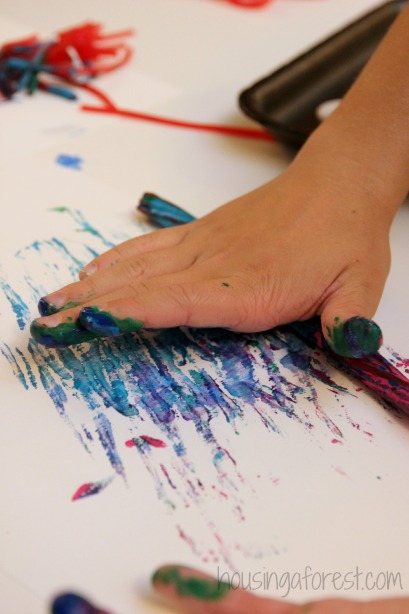 Painting with Licorice - process art with candy