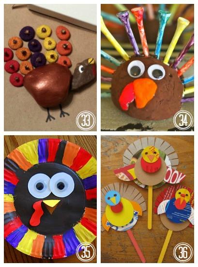 40 Turkey Crafts for Thanksgiving