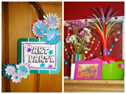 Art Birthday Party ~ creative art stations and decorations